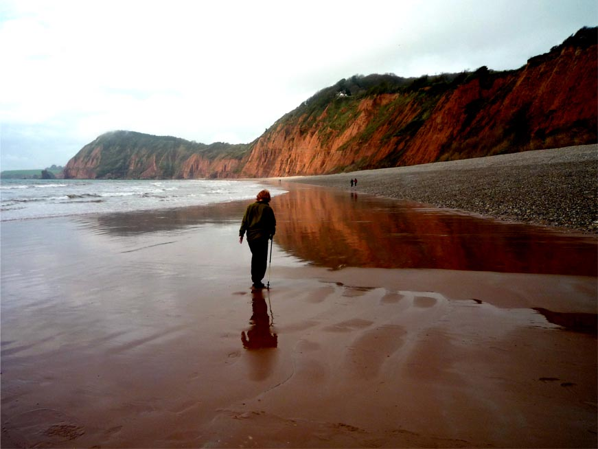 Walking on Sidmouth beach
